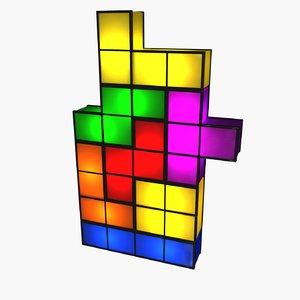 tetris lamp 3d model