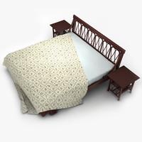 """Rattan bed """"Valeria"""