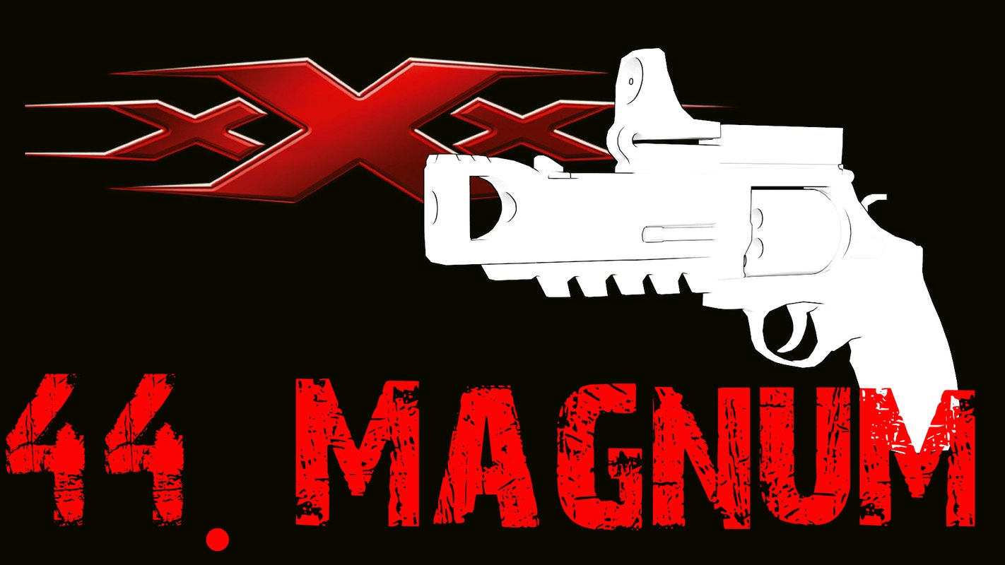 free revolver 44 magnum 3d model