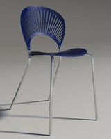 3d model chair trinitad style blu