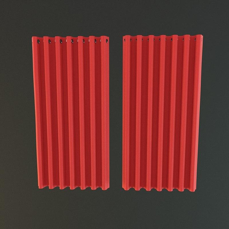 curtain 3d max