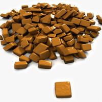 bonbon sugar candies 3d model