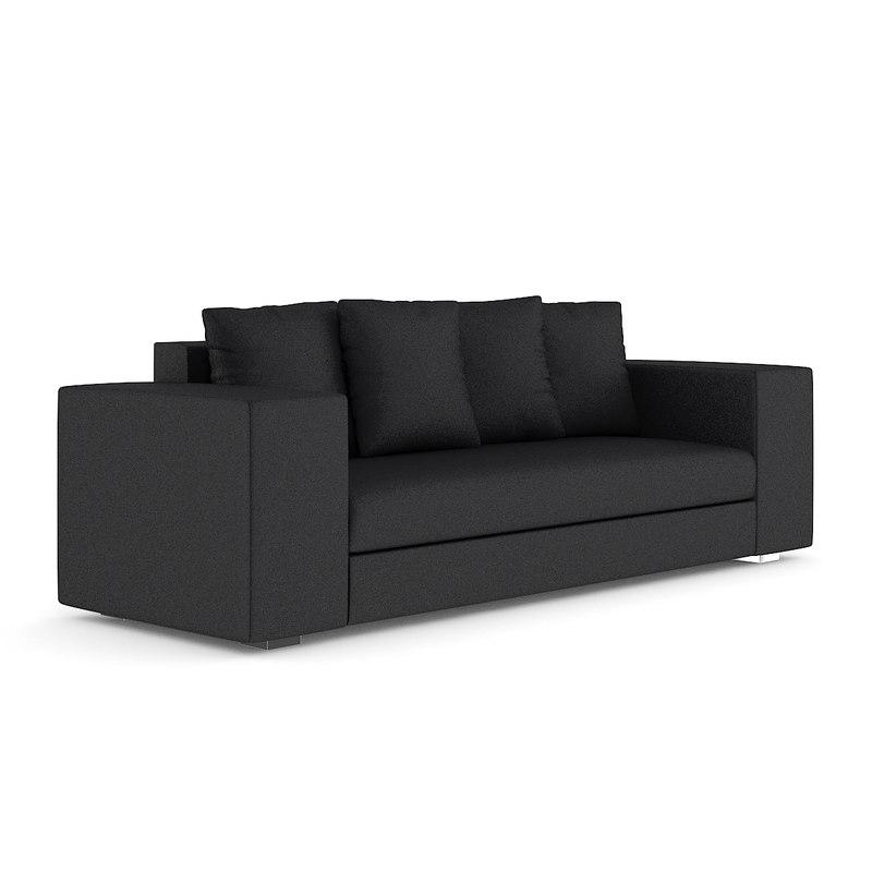 3d dark grey sofa