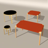 designer tables 3d model