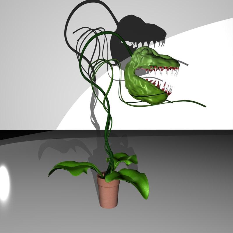 carnivorous plant 3d obj