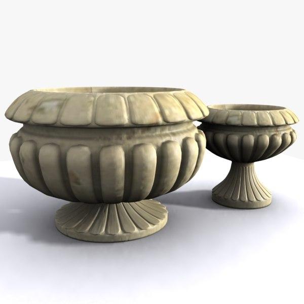 stone flowerpot pot 3ds