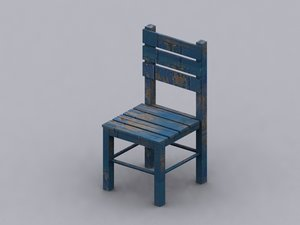 3ds max wooden chair