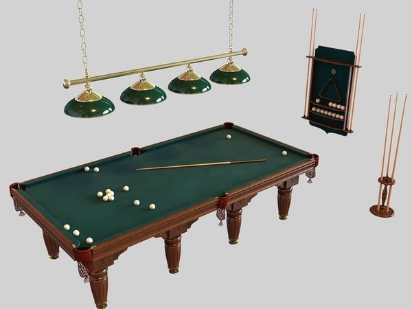 billiard table 3d max