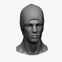 free zbrush man head 3d model
