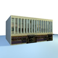 english urban building 3d model
