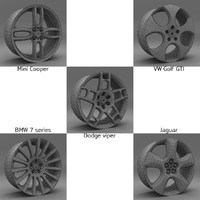 famous cars alloys 3d model