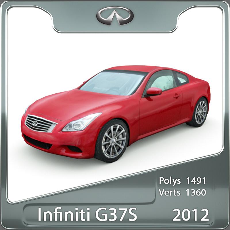 3d 3ds infiniti g37s 2012