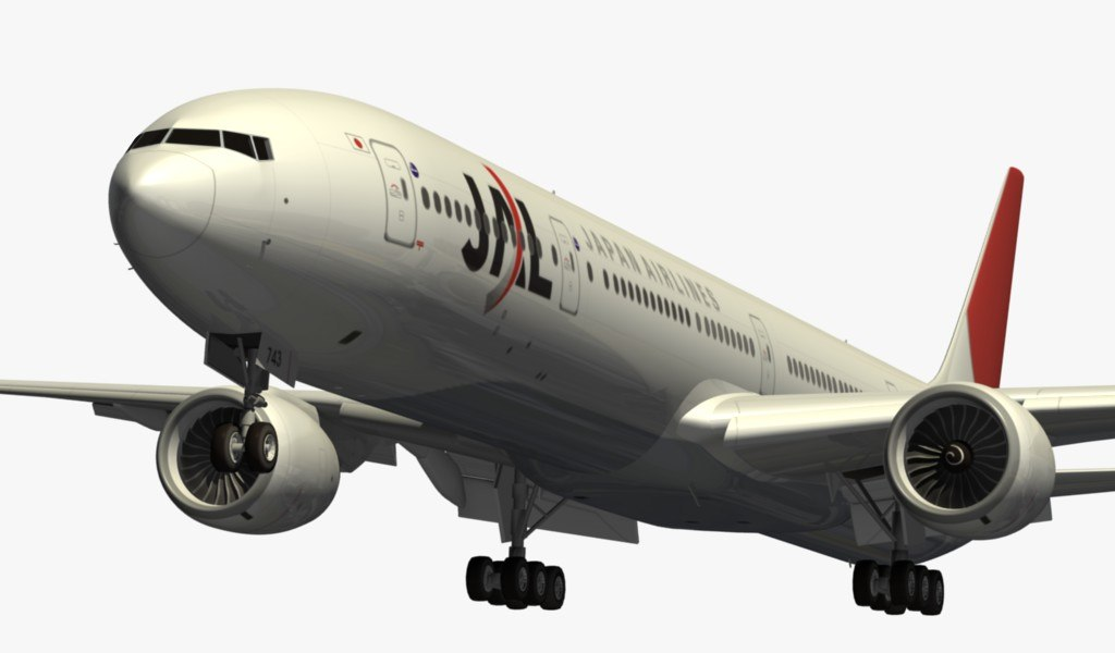 boeing 777-300 japan airlines 3d max