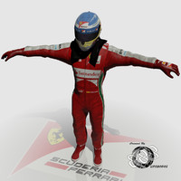 formula fernando alonso 2013 3d model