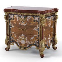 Armando Rho A 915 Classic Baroque Bedroom nightstand