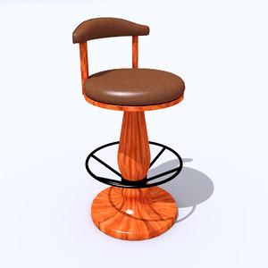 bar chair 3ds free