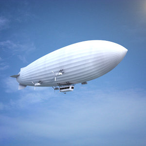 blimp airship balloon 3d model