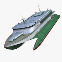 3d catamaran model