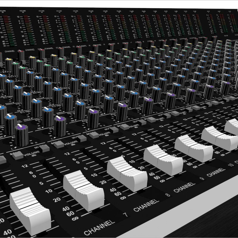 3d mixing board model