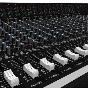 3d mixing board model