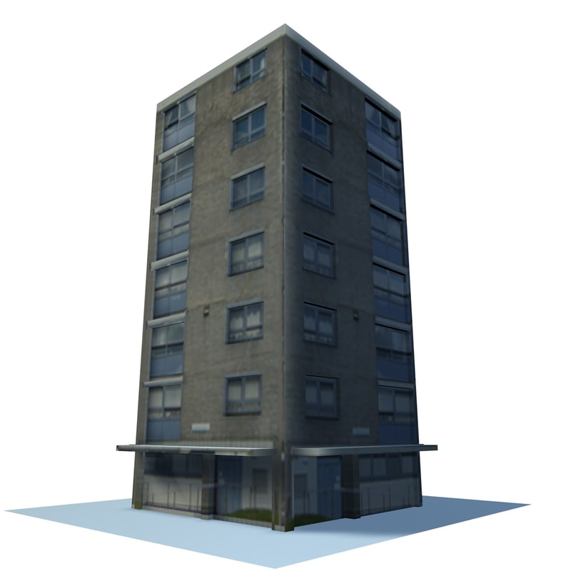 3d english urban building