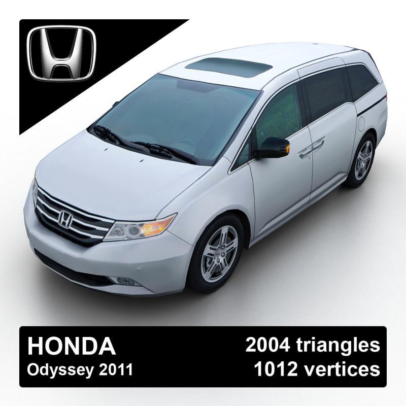 Honda Mini Vans: 2011 Honda Odyssey Minivan 3d Model