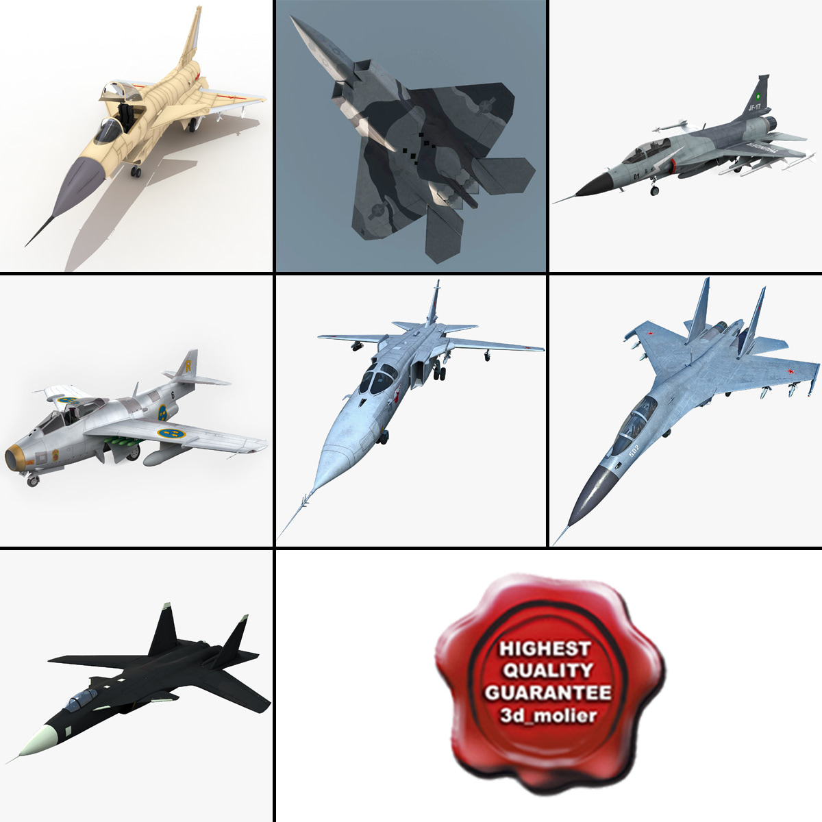 jet fighters 9 j 3d model
