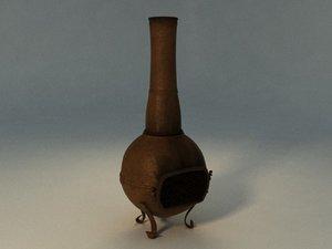 3d model iron stove garden