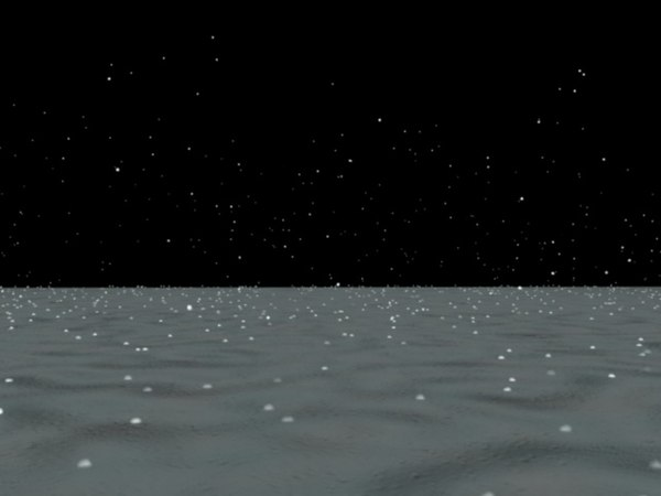 3d model snow snowfall