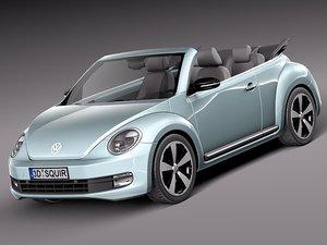 lwo volkswagen beetle convertible car