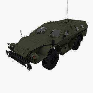 3ds max 2009 kamaz-43269 dozor vehicle