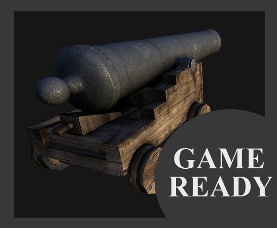 3d model of cannon ready
