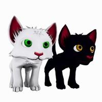 3d cat felin model