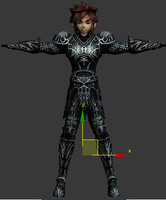 3d character male armor