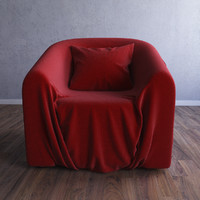armchair chair wrinkle obj