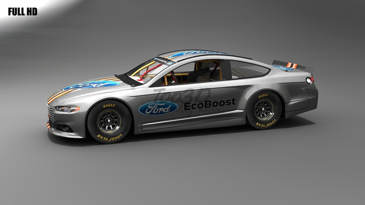 3d model fusion nascar car