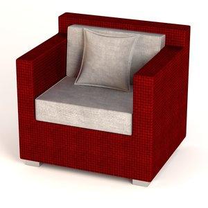 3ds garden furniture chair
