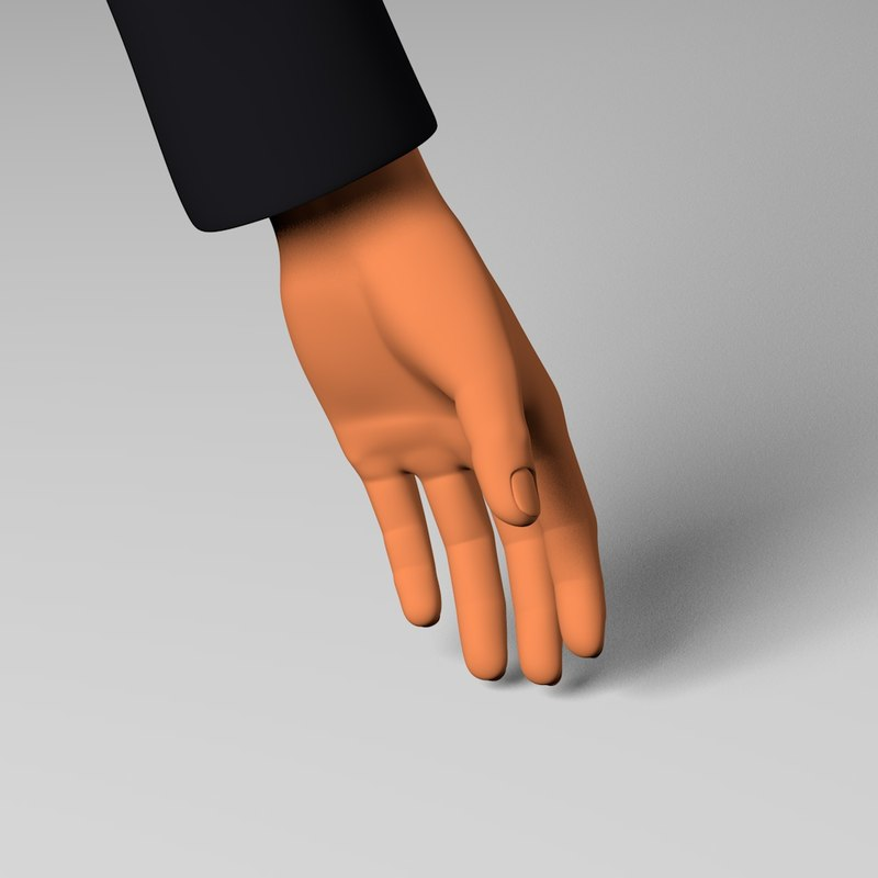 hand 3d 3ds