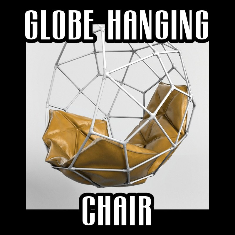 3d globe hanging chair