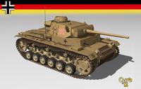 3d model german tank iii