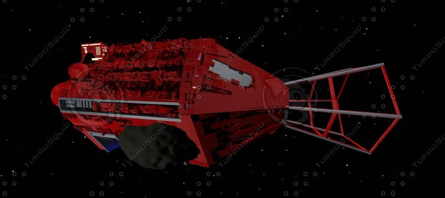 red dwarf ship 3d 3ds