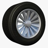 3d model wheel rim spoke sport