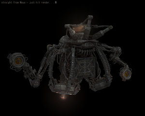 dystopian robot drone 3d ma