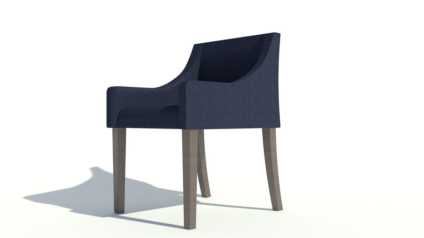 3d savile row dining chair
