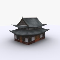 3d medieval japan house