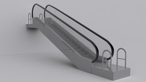 3d escalator 1