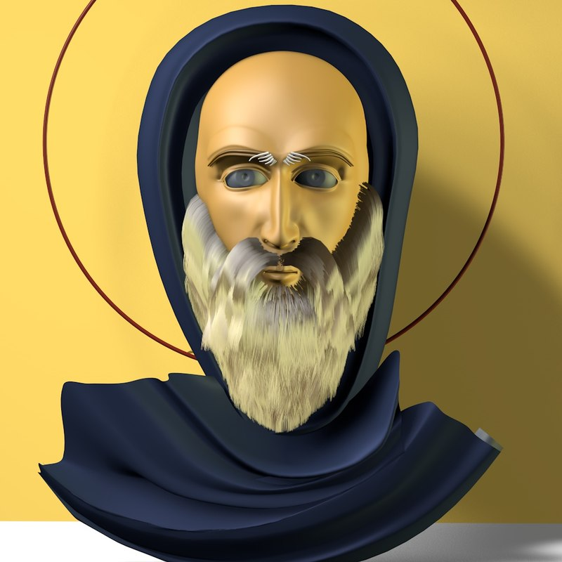 3d model saint anthony
