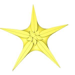 3ds max starfish fish star
