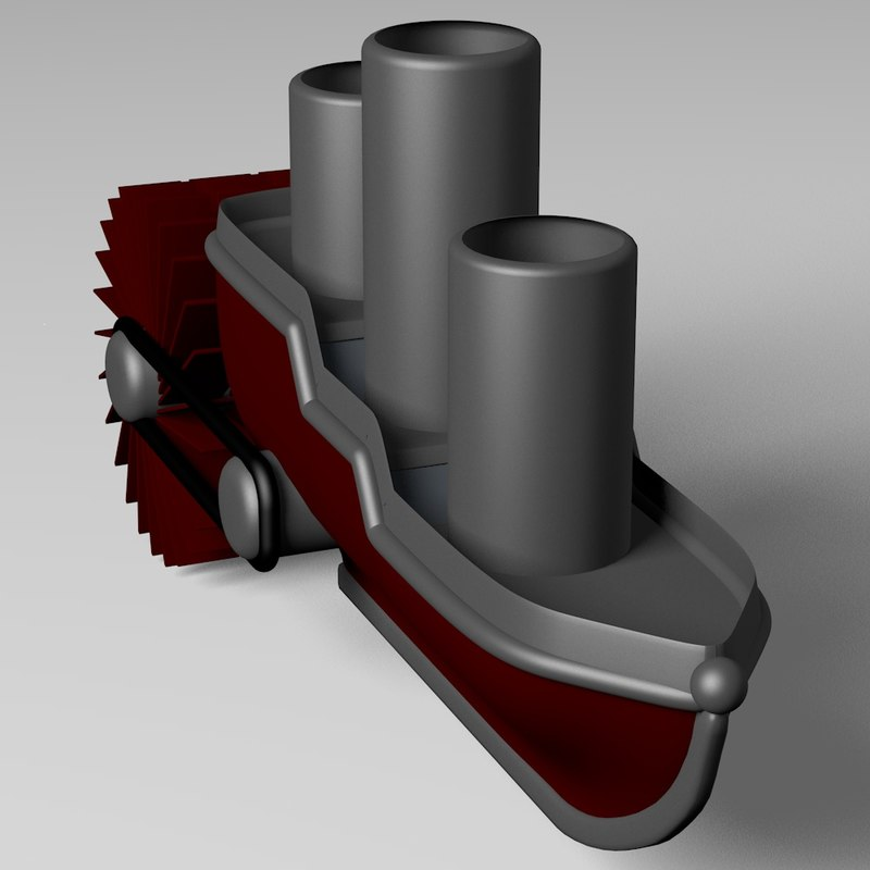 steam boat 3d c4d