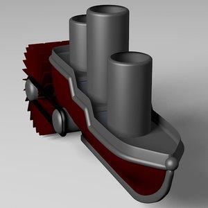steam boat 3d c4d